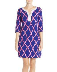 Lilly Pulitzer - Blue 'veranda' Print Terry Shift Dress - Lyst