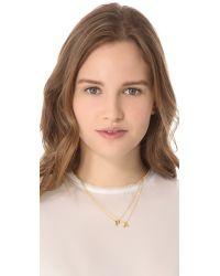 Gorjana | Metallic Alphabet Necklace - T | Lyst