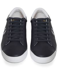 Fred Perry Blue Spencer Perforated Trainers for men
