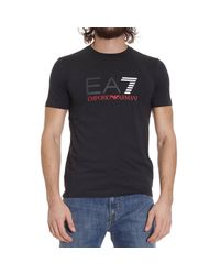 EA7 - Black T-shirt for Men - Lyst