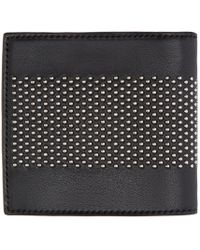 Alexander McQueen - Black Leather Studded Liliput Wallet for Men - Lyst