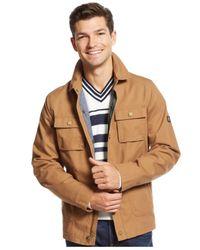 Tommy Hilfiger - Brown Flint Jacket for Men - Lyst