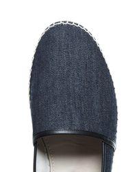 Dolce & Gabbana - Blue Leather-trimmed Denim Espadrilles for Men - Lyst