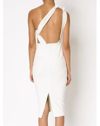 Misha Collection - White Fitted One Shoulder Dress - Lyst