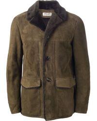 Saint Laurent | Green Shearling Jacket for Men | Lyst