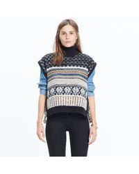 Madewell | Black Side-tie Sweater-vest | Lyst