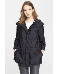 Burberry Brit | Black 'maidleigh' Hooded Roll Sleeve Jacket | Lyst
