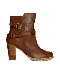 Carvela Kurt Geiger | Brown Leather Tamera Buckle Ankle Boots | Lyst