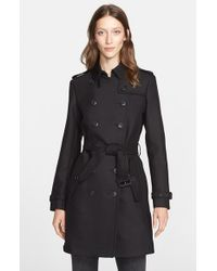 Burberry Brit | Black Bramington Trench Coat | Lyst
