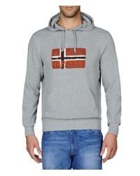 Napapijri | Gray Sweatshirt for Men | Lyst