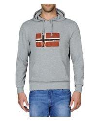 Napapijri - Gray Sweatshirt for Men - Lyst