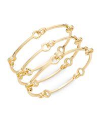 Saks Fifth Avenue | Metallic Linked Bangle Bracelet Set/goldtone | Lyst