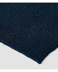 AllSaints | Blue Montall Beanie Hat for Men | Lyst