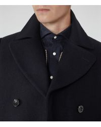 Reiss - Blue Sonnie Wool-rich Peacoat for Men - Lyst
