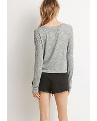 Forever 21 - Green Textured Knit Sweater You've Been Added To The Waitlist - Lyst