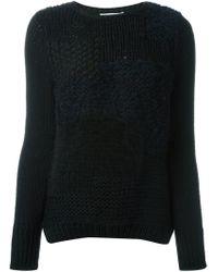 Helmut Lang - Black Long Sleeve Sweater - Lyst