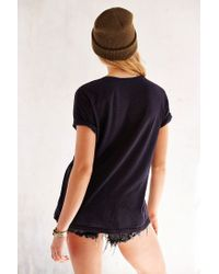 Truly Madly Deeply | Black V-neck Slouch Pocket Tee | Lyst