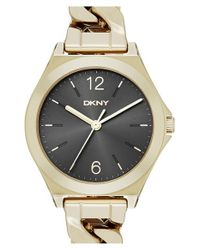 DKNY | Metallic 'parsons' Bracelet Watch | Lyst