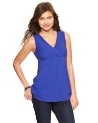 Gap - Blue Crossover Nursing Tank - Lyst