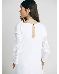 Free People | White Scouting Day Dress | Lyst