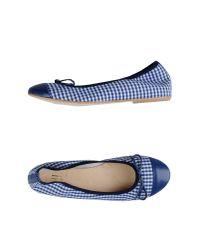 George J. Love - Blue Ballet Flats - Lyst