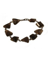 Adornia | Brown Sterling Silver And Smoky Topaz Sienna Bracelet | Lyst