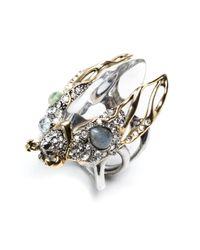 Alexis Bittar   Metallic Jardin Mystã¨Re Scarab Beetle Ring   Lyst