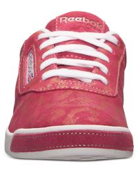 Reebok - Pink Women'S Baroness Exotics Casual Sneakers From Finish Line - Lyst