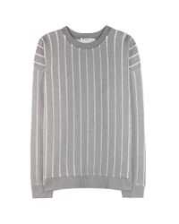 T By Alexander Wang - Gray Burnout French Terry Sweatshirt - Lyst