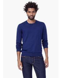 Mango | Blue Cotton Cashmere-blend Sweater for Men | Lyst