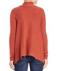 Free People | Orange Draped Turtleneck Top | Lyst