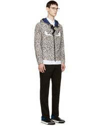 Fendi - Gray Beige And Grey Camo Monster Eye Windbreaker for Men - Lyst