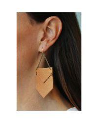 Spectrum | Metallic Angled Leather Earrings | Lyst