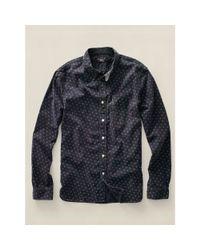 RRL - Blue Sierra Discharge-print Shirt for Men - Lyst