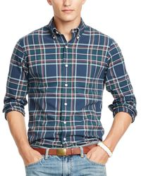 Ralph Lauren | Blue Polo Plaid Oxford Shirt for Men | Lyst