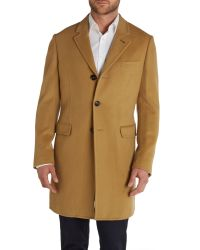 Ted Baker - Natural Caspar Formal Overcoat for Men - Lyst
