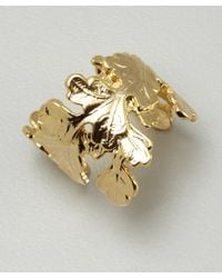 Joanna Laura Constantine | Metallic Gold Leaf Wrap Ring | Lyst