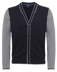 Armani Jeans - Black Contrast Sleeve Cardigan for Men - Lyst