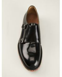 Paul Smith - Black Marbled Sole Monk Shoes for Men - Lyst
