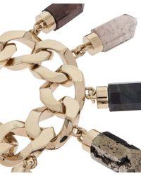 Givenchy - Metallic Goldtone Chunky Gemstone Charm Bracelet - Lyst