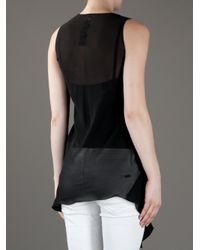 Rick Owens - Black Sleeveless Top - Lyst