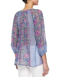 Joie - Green Evelien Floral Blouse - Lyst