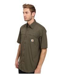 Carhartt | Green Force Mandan Solid S/s Woven for Men | Lyst