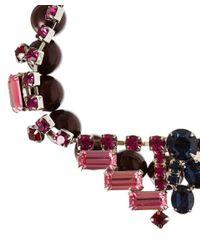 Joomi Lim - Red Burgundy Crystal And Pearl Split Personality Bracelet - Lyst