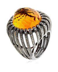 Annoushka | Orange Citrine Basket Ring | Lyst