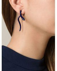Ileana Makri | Blue 'Boa' Earrings | Lyst