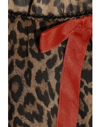 L'Agent by Agent Provocateur | Multicolor Leonara Leopard-Print Stretch-Georgette Chemise | Lyst