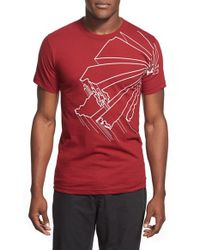 Casual Industrees - Red 'washington Outline' Graphic T-shirt for Men - Lyst