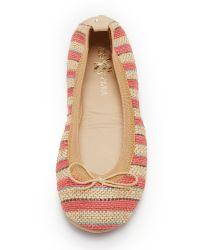 Yosi Samra - Pink Sandrine Striped Jute Flats - Lyst