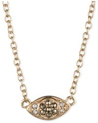 Judith Jack - Metallic Crystal And Marcasite Evil Eye Pendant Necklace - Lyst
